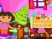 Dóra baba takarítja a házat