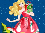Barbie Christmas Princess Dress Up