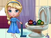 Play Elsa Clean Bathroom