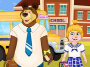 Masha And Bear Going To School