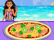 Moana Cooking Summer Chicken Pizza