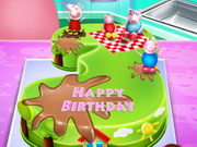 Peppa Pig Birthday Cake Cooking